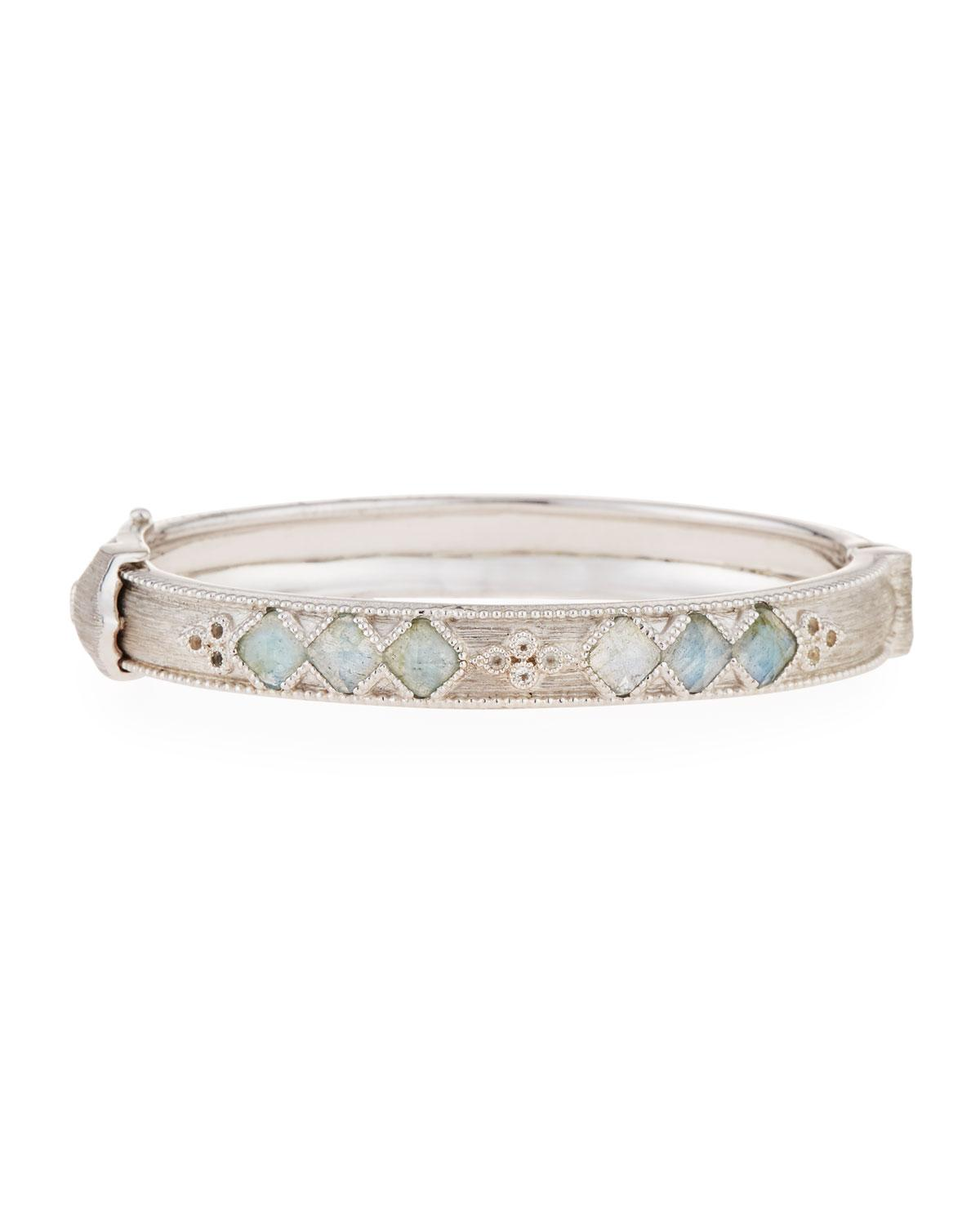 Jude Frances Moroccan White Topaz Cushion Bangle nyXO0