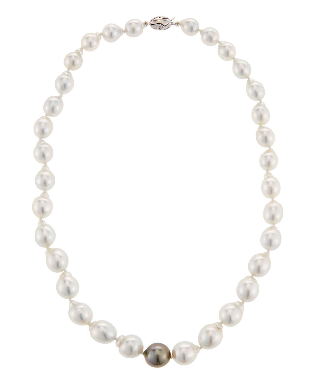 Belpearl 18k Moonstone & Pearl Necklace mPFzeAcF