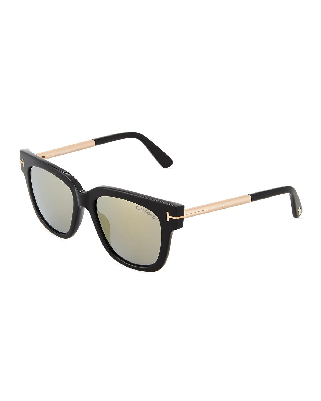 9556997d59 Tom Ford Plastic metal Square Sunglasses in Black - Lyst