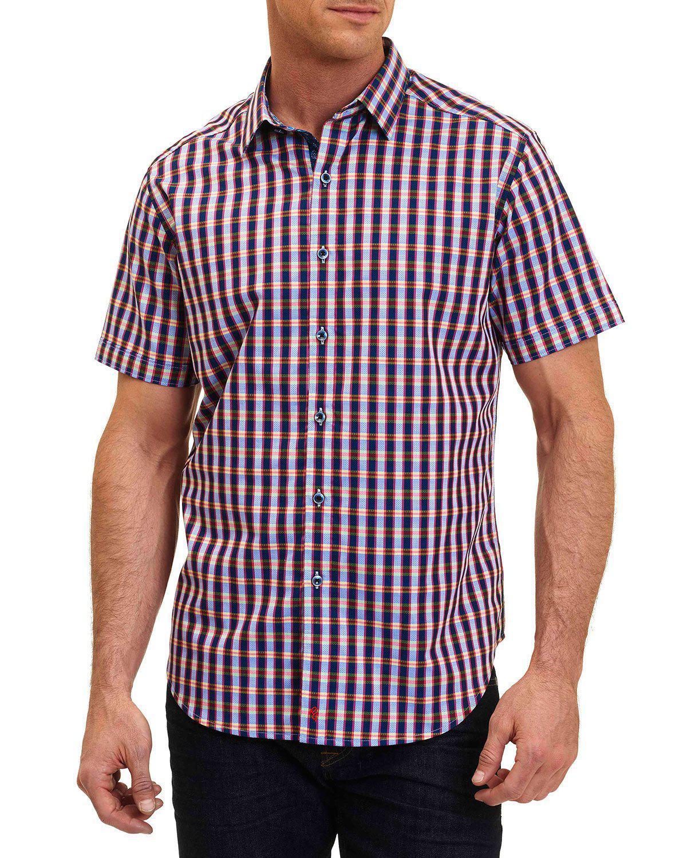 Lyst robert graham criterion short sleeve sport shirt in for Robert graham sport shirt