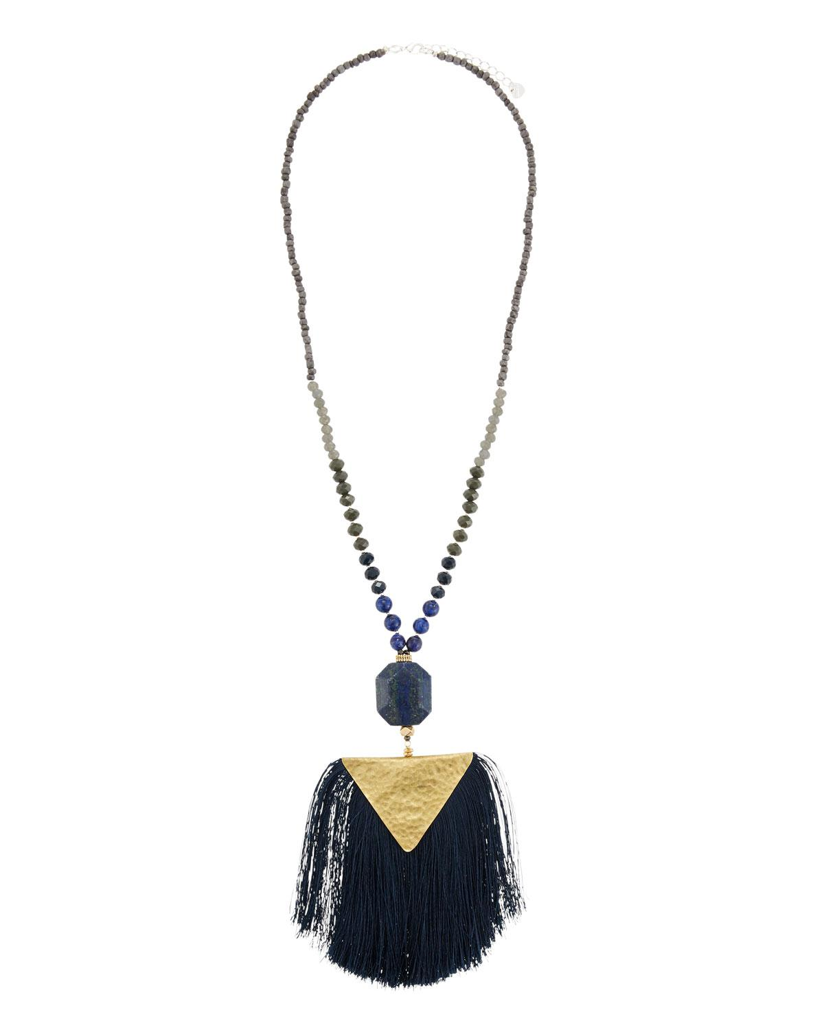 Nakamol Triple-Strand Feather Charm Necklace eqSobuT