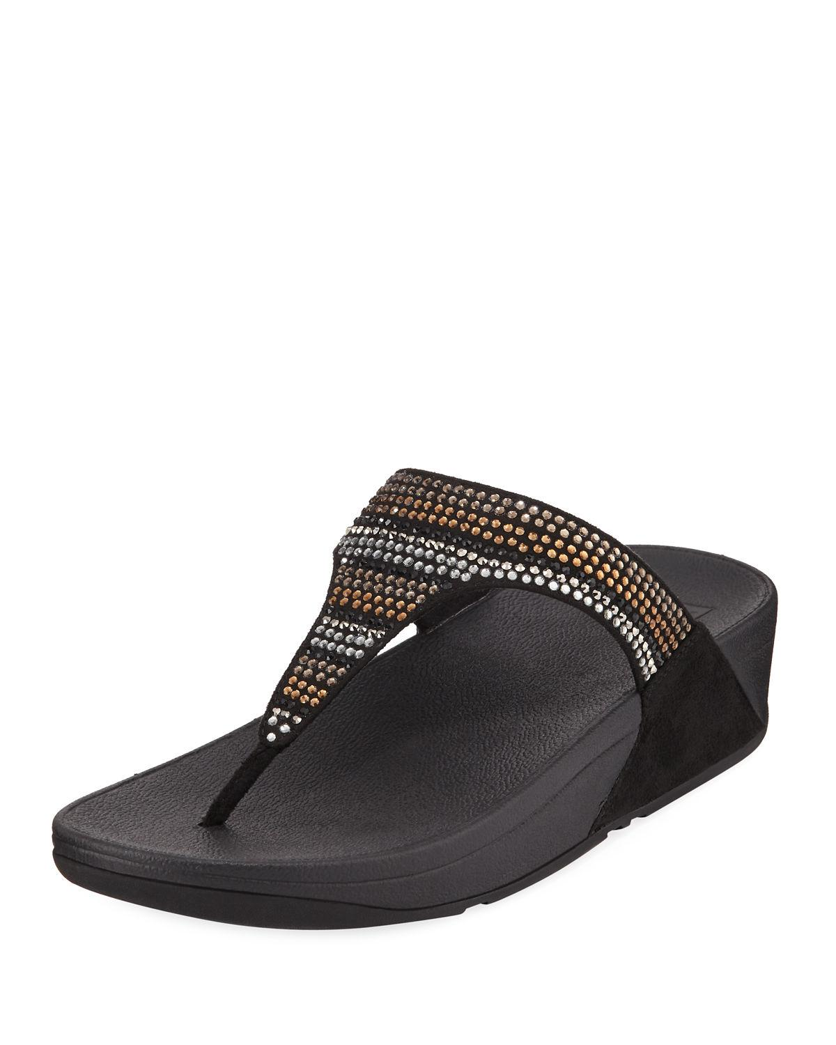 1a1035c5c Lyst - Fitflop Strobe Luxe Thong Platform Sandal in Black