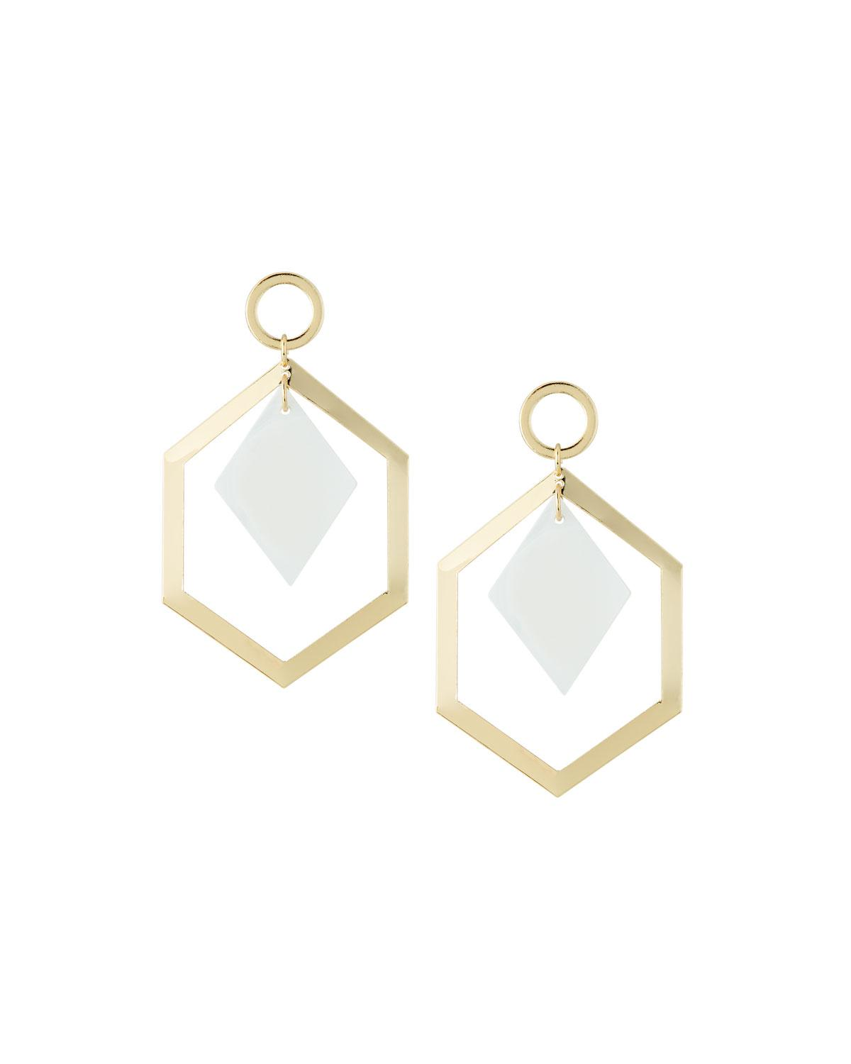Fragments Geometric Shell Drop Earrings