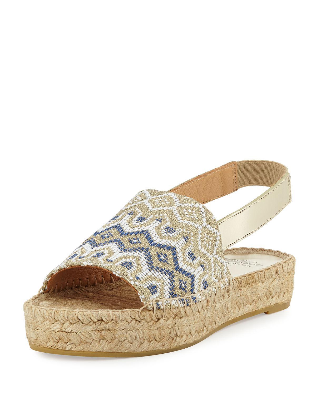 Andre Assous. Women's Brown Sunny Espadrille Platform Sandal