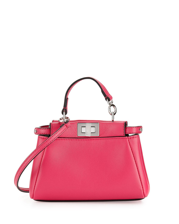 ac4da9d1f1 Lyst - Fendi Peekaboo Micro Satchel Bag in Pink