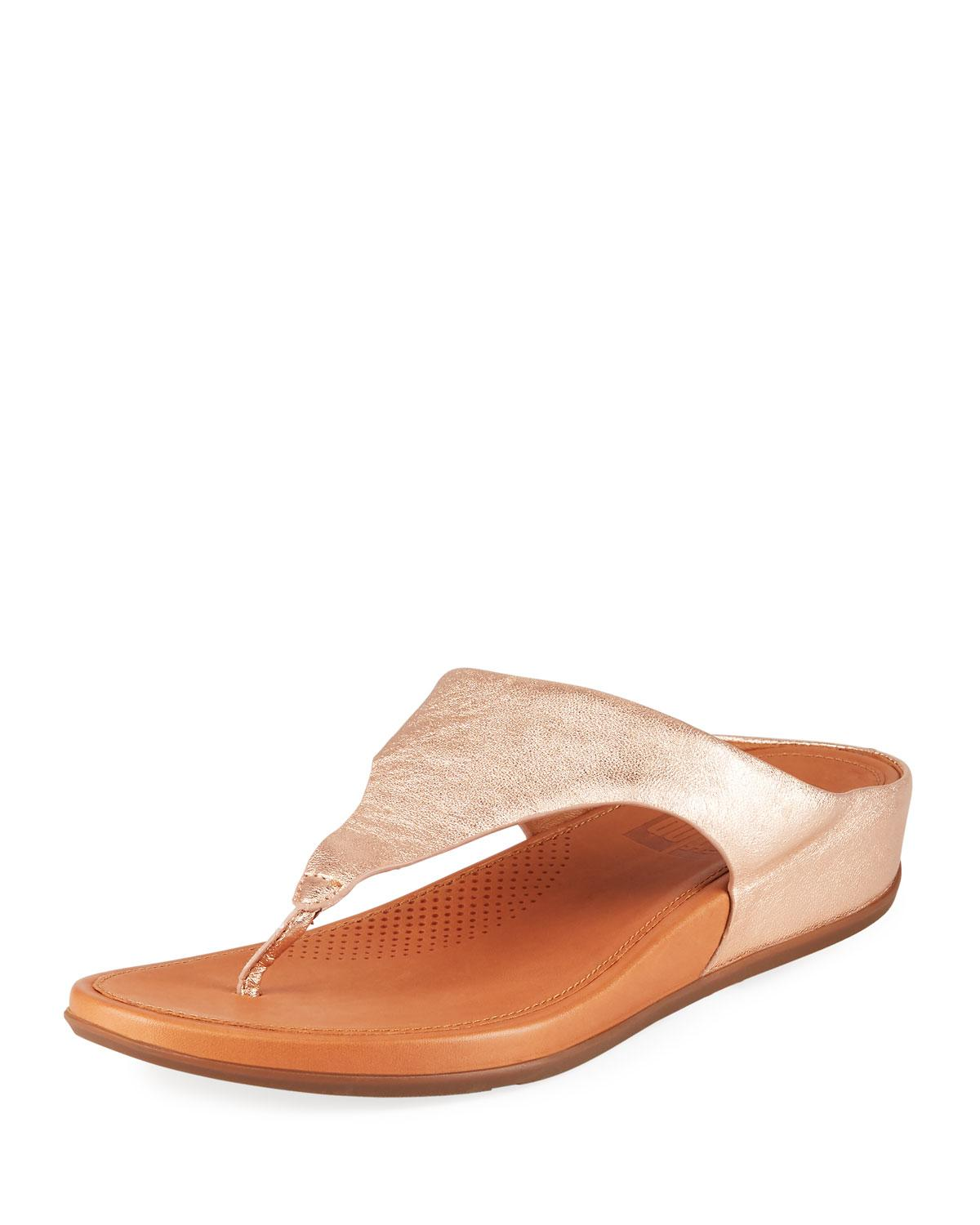 e67c635626095 Fitflop. Women s Banda Metallic Leather Thong Sandals