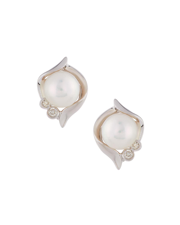 Belpearl 14k Diamond & Multi-Pearl Earrings IvkVv3al