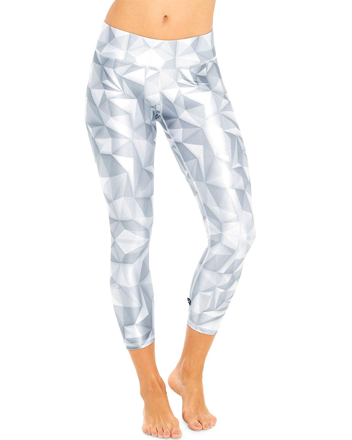 173c9bbf5f11df Terez High-rise Geometric Capri Leggings in White - Lyst