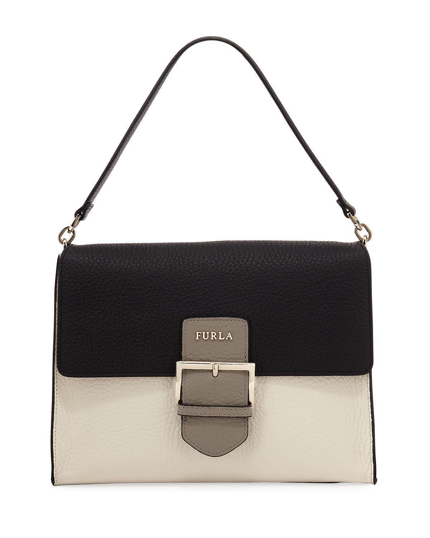 Lyst - Furla Flo Large Shoulder Bag in Black c09d0905b8bb0