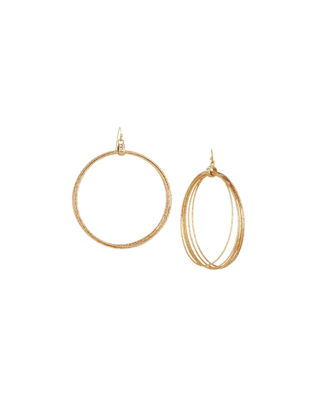 Lydell Nyc Metallic Beaded Hoop Earrings NTf4AiQ8H