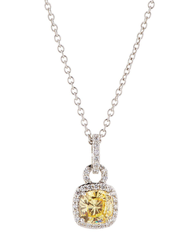 Fantasia White CZ Crystal Pendant Necklace 81FMpB8G67