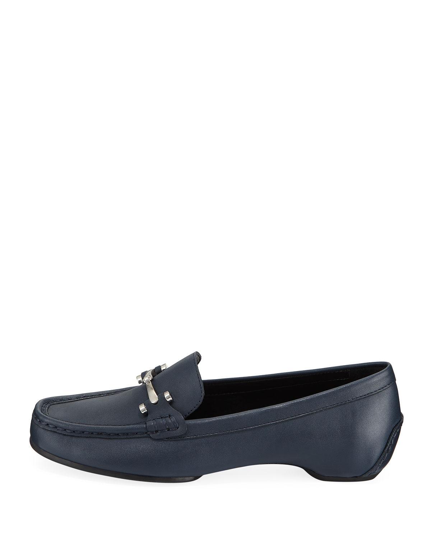 304b4044df7 Lyst - Donald J Pliner Filo Burnished Leather Moc Loafers in Black