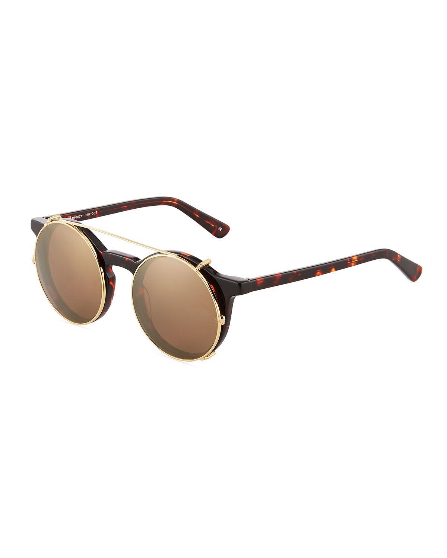 0f0ff0e2bb50d Sunday Somewhere. Women s Brown Lorenzo Tortoiseshell Acetate metal  Sunglasses