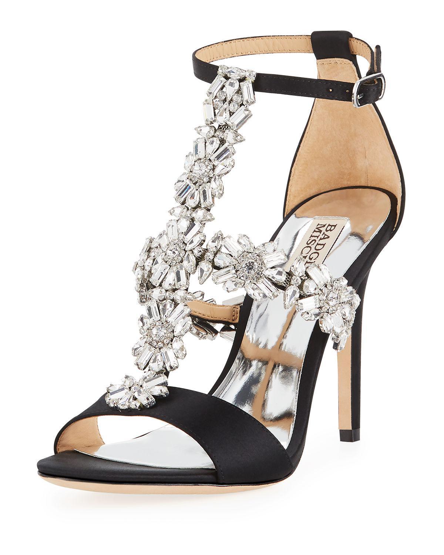 651dfbcb9b9 Lyst - Badgley Mischka Munroe Embellished T-strap Dress Sandal in ...