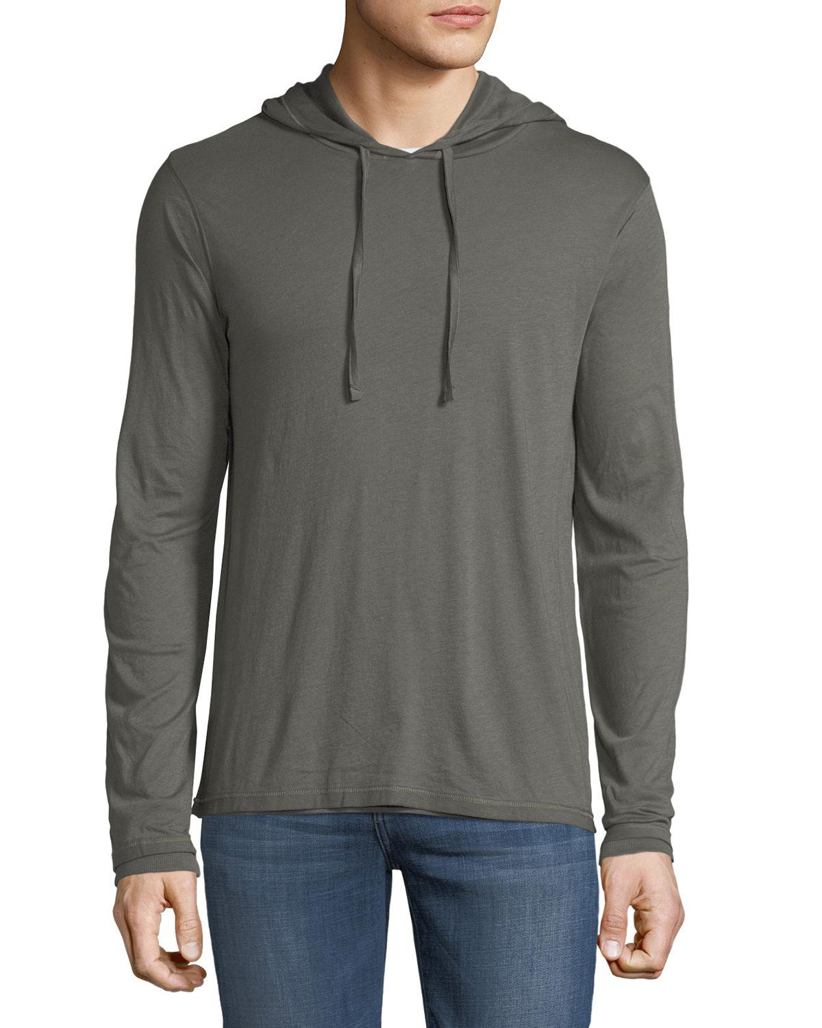 f1efb69afae Lyst - Vince Men s Double Layer Hoodie in Green for Men