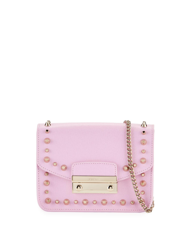 8ded4c76969f Furla. Women s Julia Mini Studded Saffiano Leather Crossbody Bag