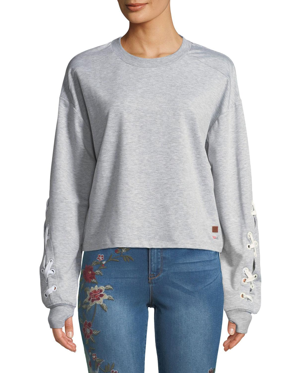 Peace Love World Womens Gray Shawn Lace Up
