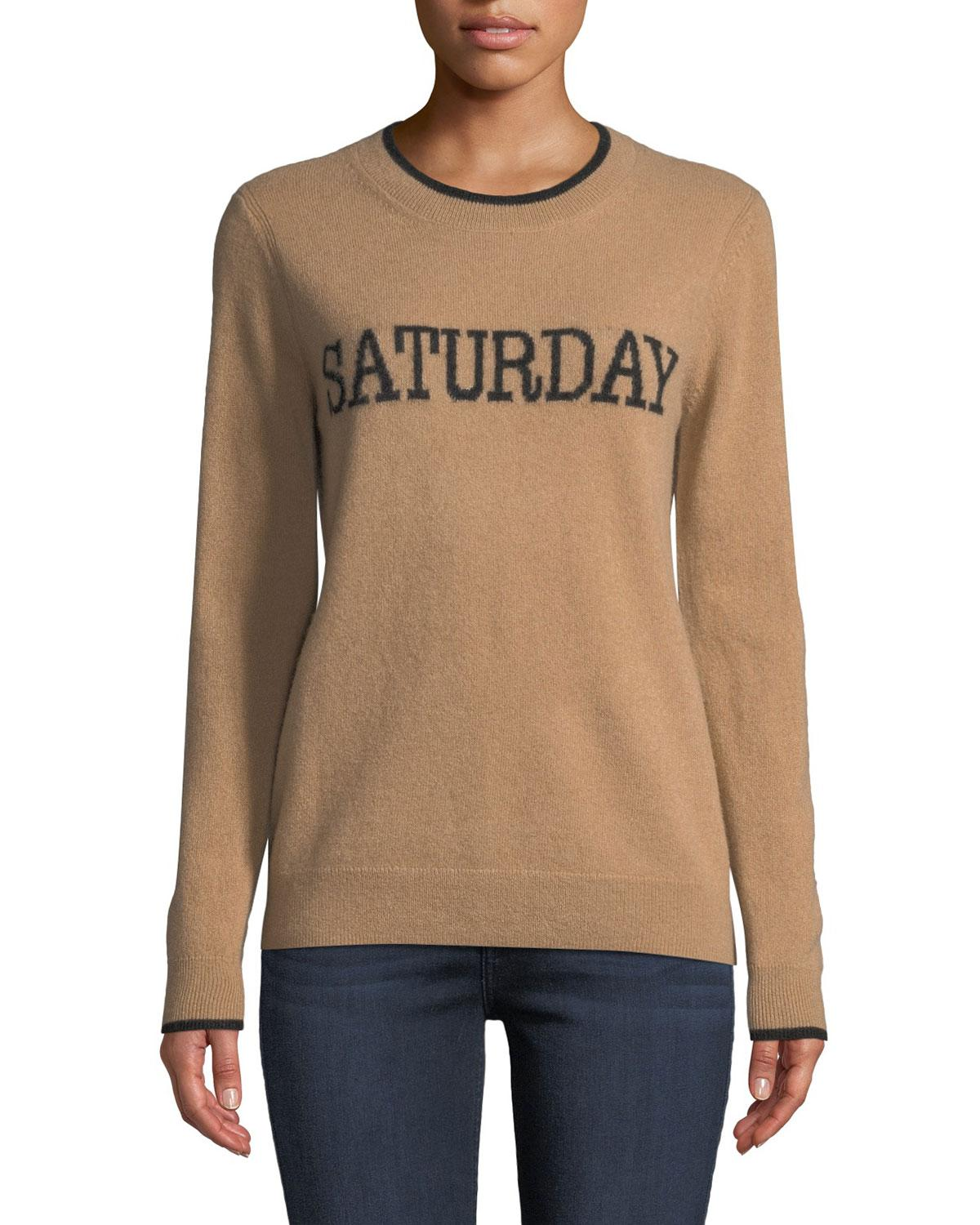 cb741cd16319 Lyst - Neiman Marcus Cashmere Saturday Pullover Sweater in Natural