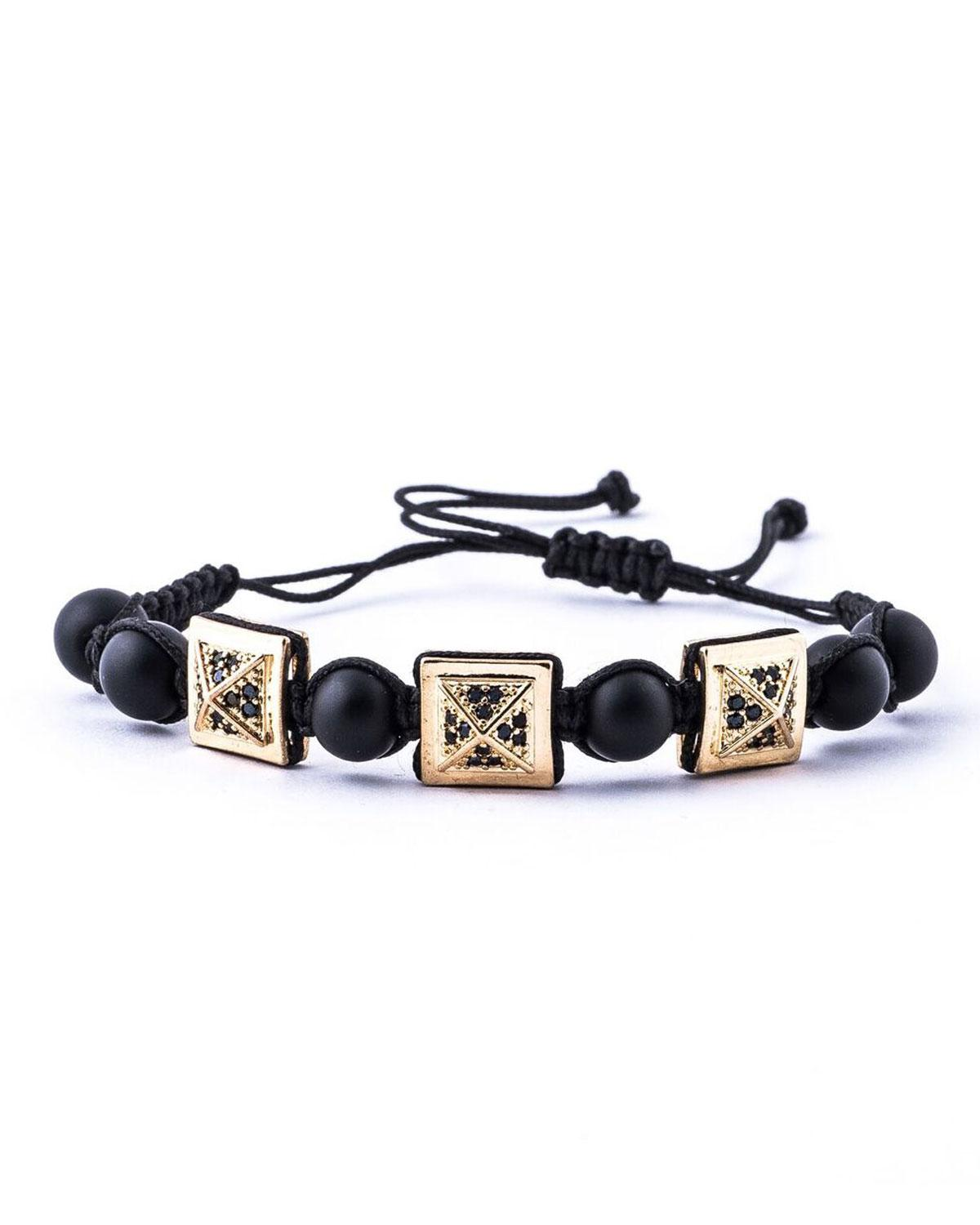 Lyst Jared Lang Mens Pav Crystal Pyramid Beaded Cord Bracelet in