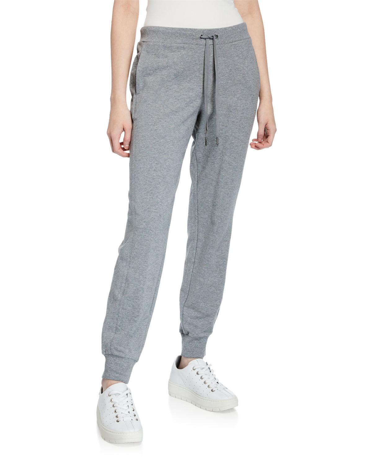 11c7e951b80 Lyst - Neiman Marcus French Terry Mid-rise Jogger Pants in Black