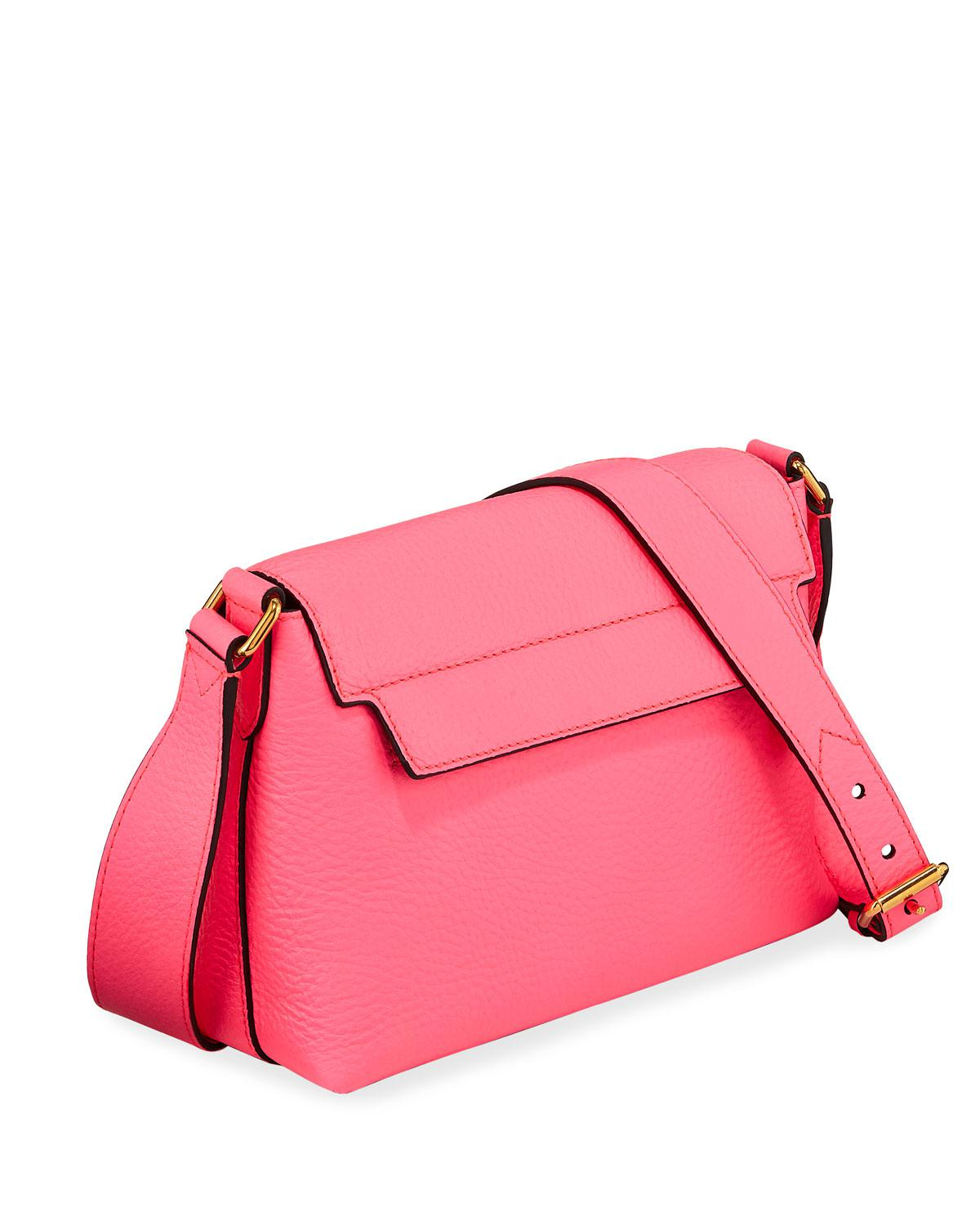 36bd32f4618 Lyst - Burberry Burleigh Small Soft Leather Crossbody Bag in Pink