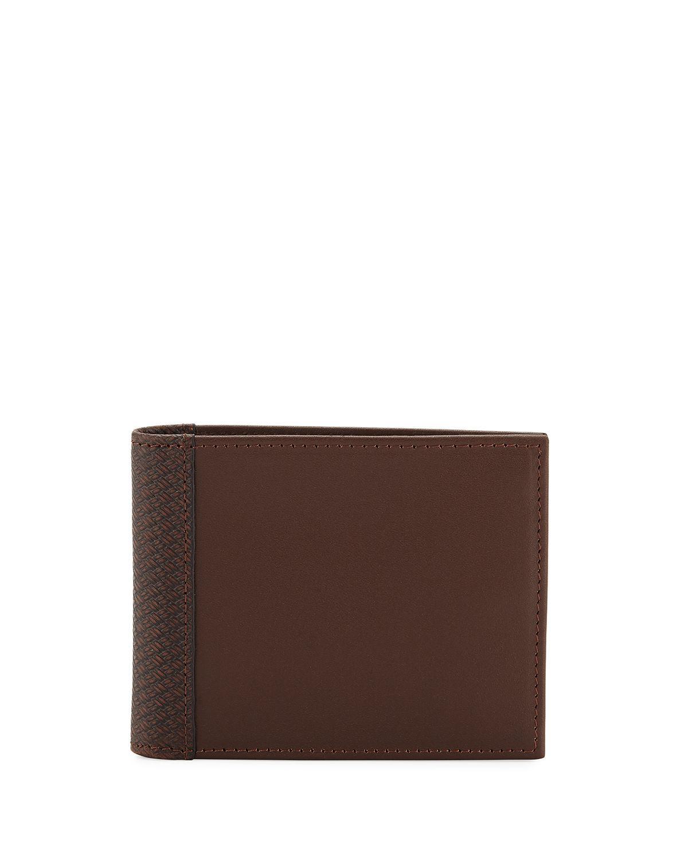013ecbd2988c Lyst - Neiman Marcus Men s Tonal Bi-fold Leather Wallet in Black for Men