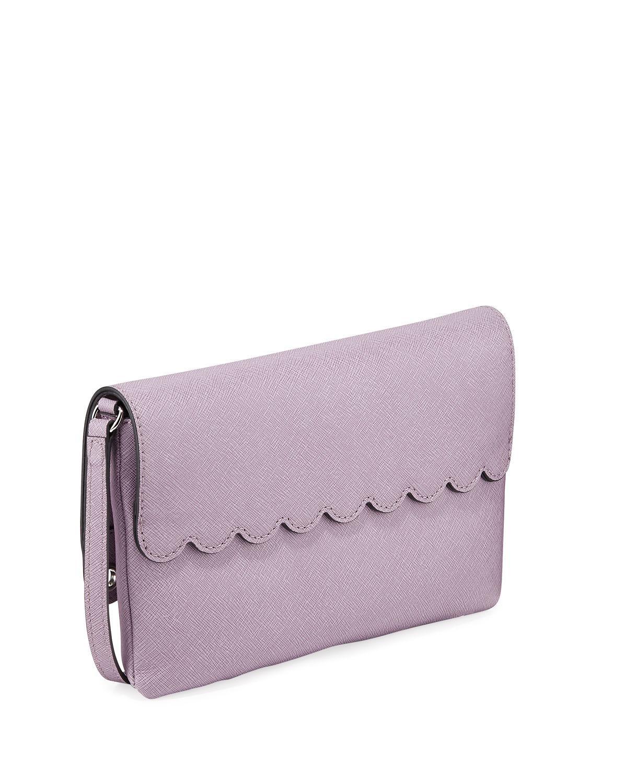 acdda3be0bff Lyst - Karl Lagerfeld Elsa Saffiano Crossbody Bag in Purple