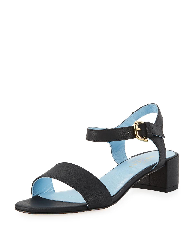 1d202efce Lyst - Sesto meucci Cadyna Napa Leather City Sandal in Black