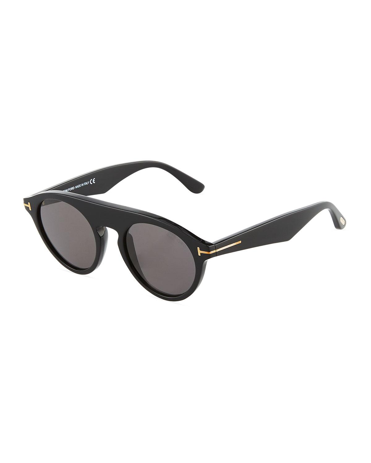 7fbca6bc95 Tom Ford Christopher Semi-shield Acetate Sunglasses in Black - Lyst