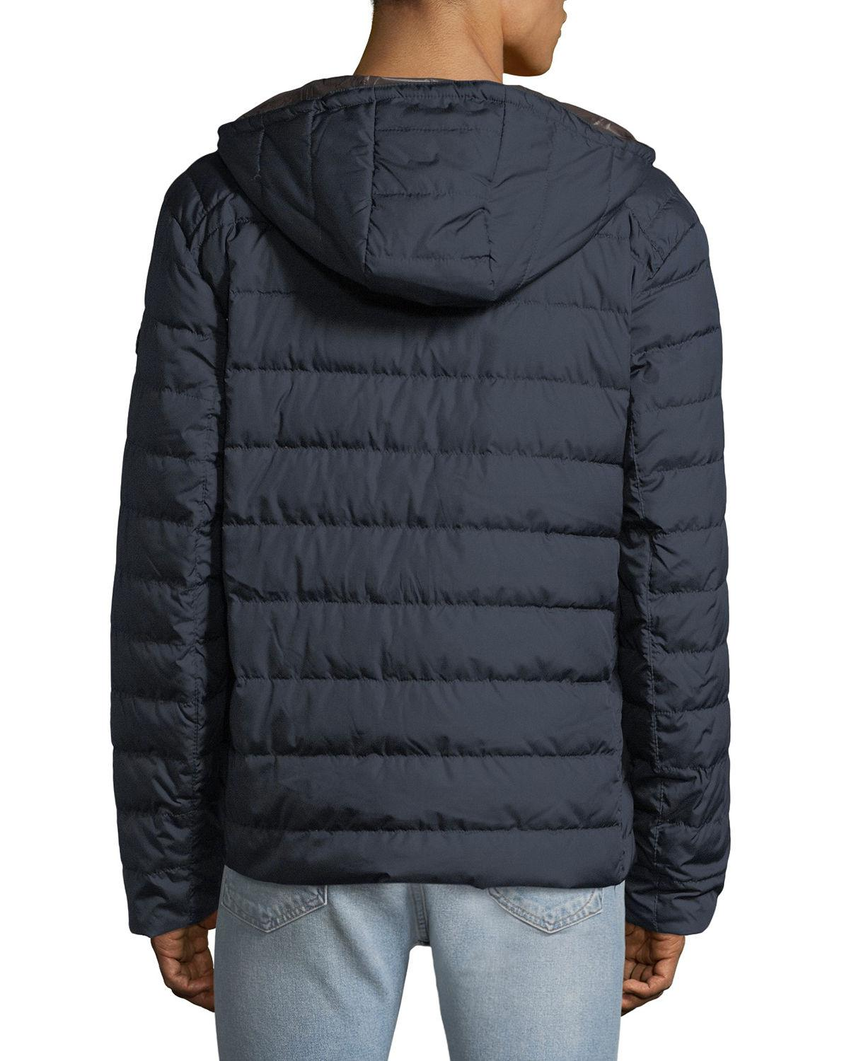 5b3d9544f524 Lyst - Michael Michael Kors Men s Quilted Down-fill Hooded Jacket for Men