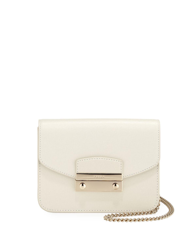 0de5fbdcd94b Lyst - Furla Julia Mini Saffiano Leather Crossbody Bag