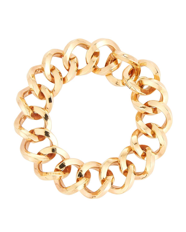 Roberto Coin 18K Rose Round-Link Bracelet HkxGTF