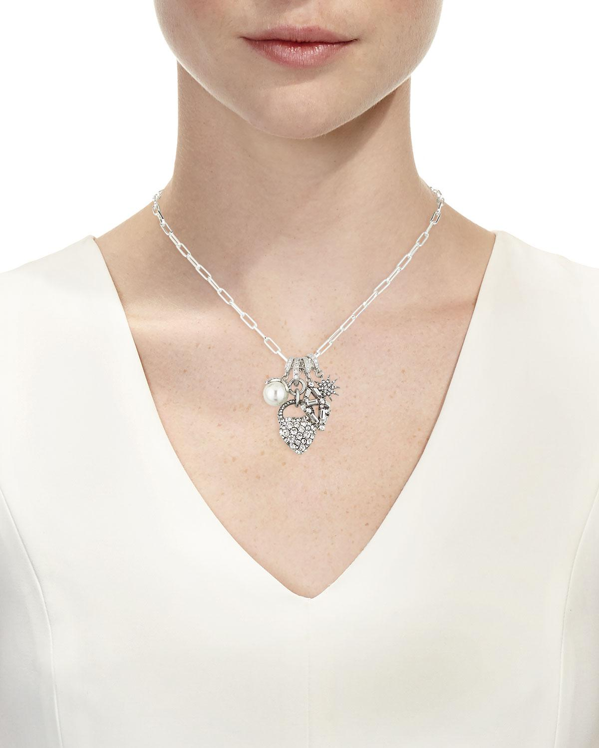 Lulu Frost Mixed Crystal Charm Necklace 7k4nN136t