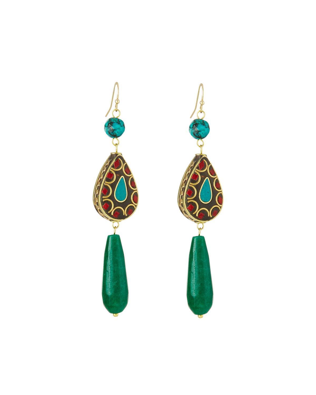 Panacea Teardrop Stone Earrings UAL6r1T