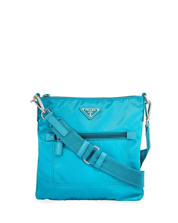 b25a7e02195f0 Prada - Green Nylon Crossbody Bag - Lyst. View fullscreen