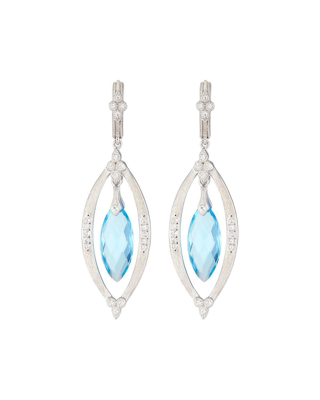 Jude Frances 18k Marquise Turquoise Triple-Drop Earrings XkqVPtx