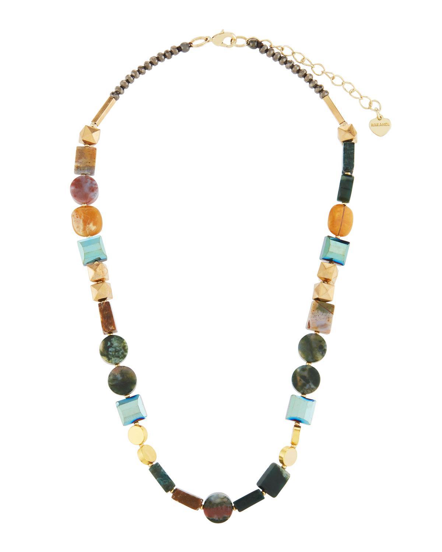 Nakamol Metallic Mixed Bead Triple-Layer Necklace BYrq8w