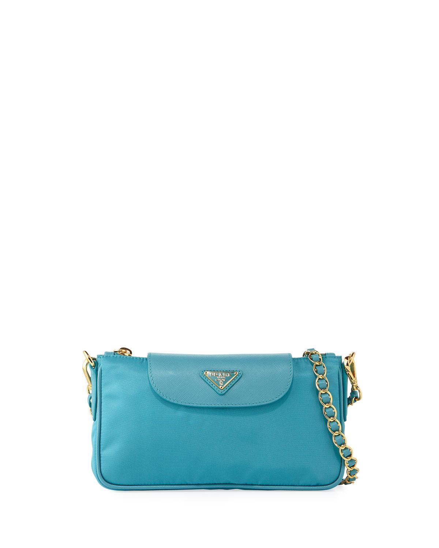 d1b8b797058a ... coupon code for prada blue nylon shoulder bag lyst. view fullscreen  27e52 dc491
