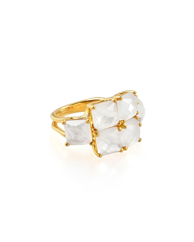 Ippolita 18k Rock Candy Square Six-Stone Ring, Size 7