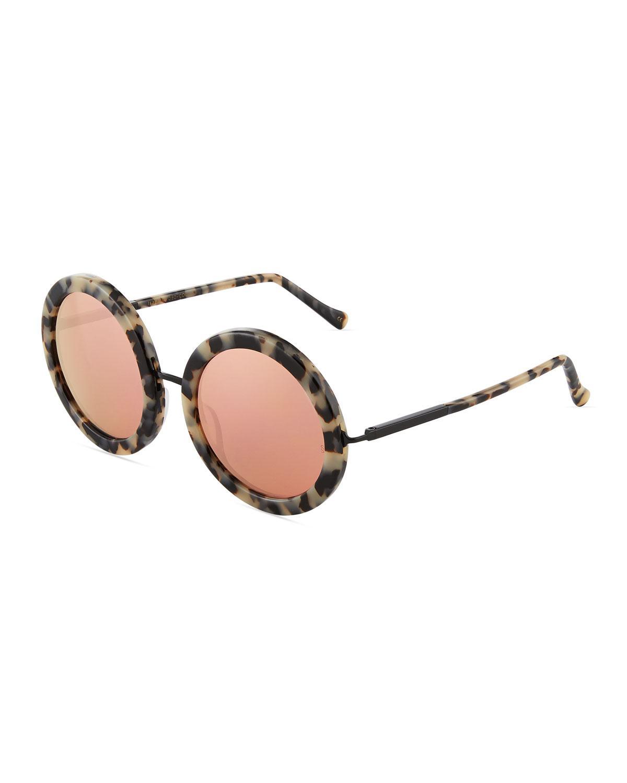 e6f7a9fd3d0d8 Sunday Somewhere. Women s Black Isabella Oversized Round Acetate Sunglasses