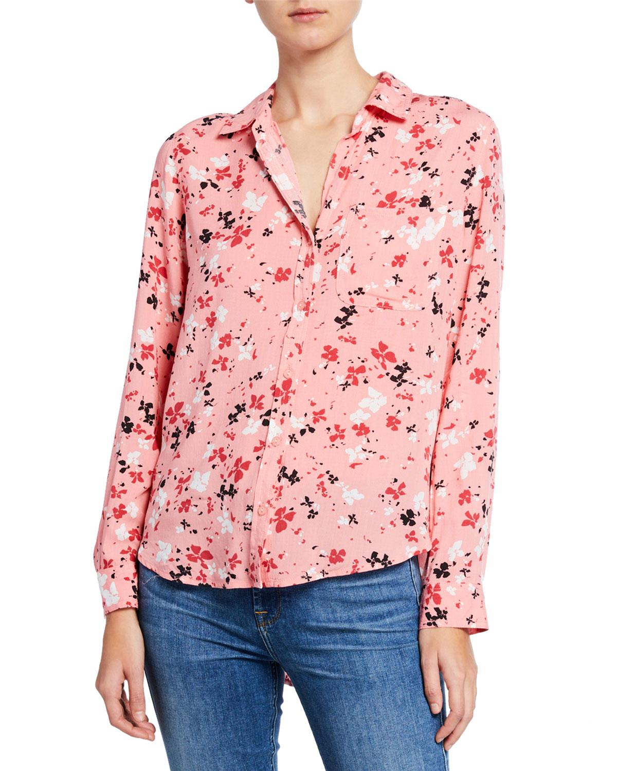 e83d86162a Lyst - Velvet Heart Elisa Floral Button-down Blouse in Pink