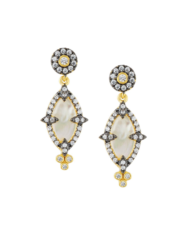 Freida Rothman Iridescent Crystal Marquise Drop Earrings tLmLWN