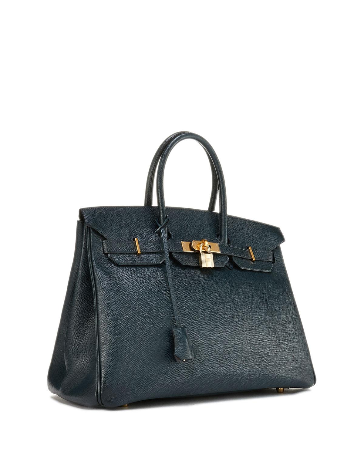 aef466cfcb Lyst - Hermès Vintage Bamboo Birkin Courchevel Satchel Bag in Blue