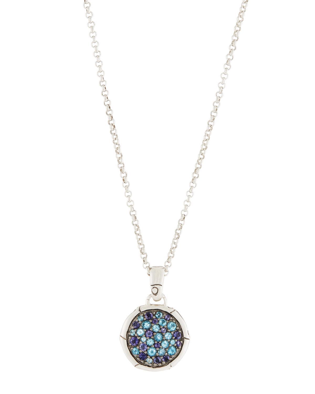 John Hardy Bamboo Gemstone Pendant Necklace, Blue
