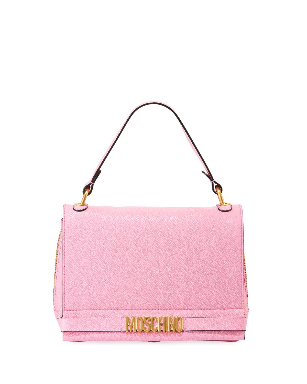 11be49f82b1 Moschino - Pink Medium Leather Shoulder Bag - Lyst. View fullscreen