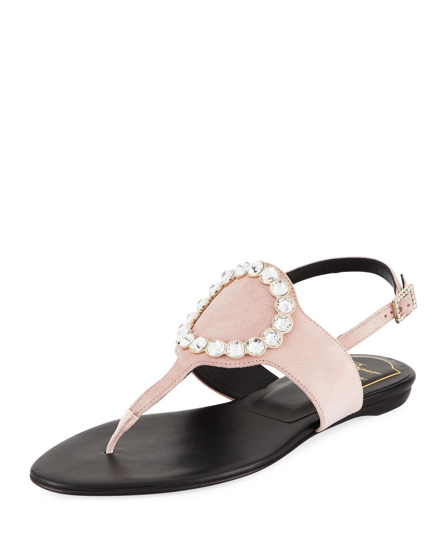 Roger Vivier Snakeskin Thong Sandals deals buy cheap original free shipping shop offer 7LbOpVU