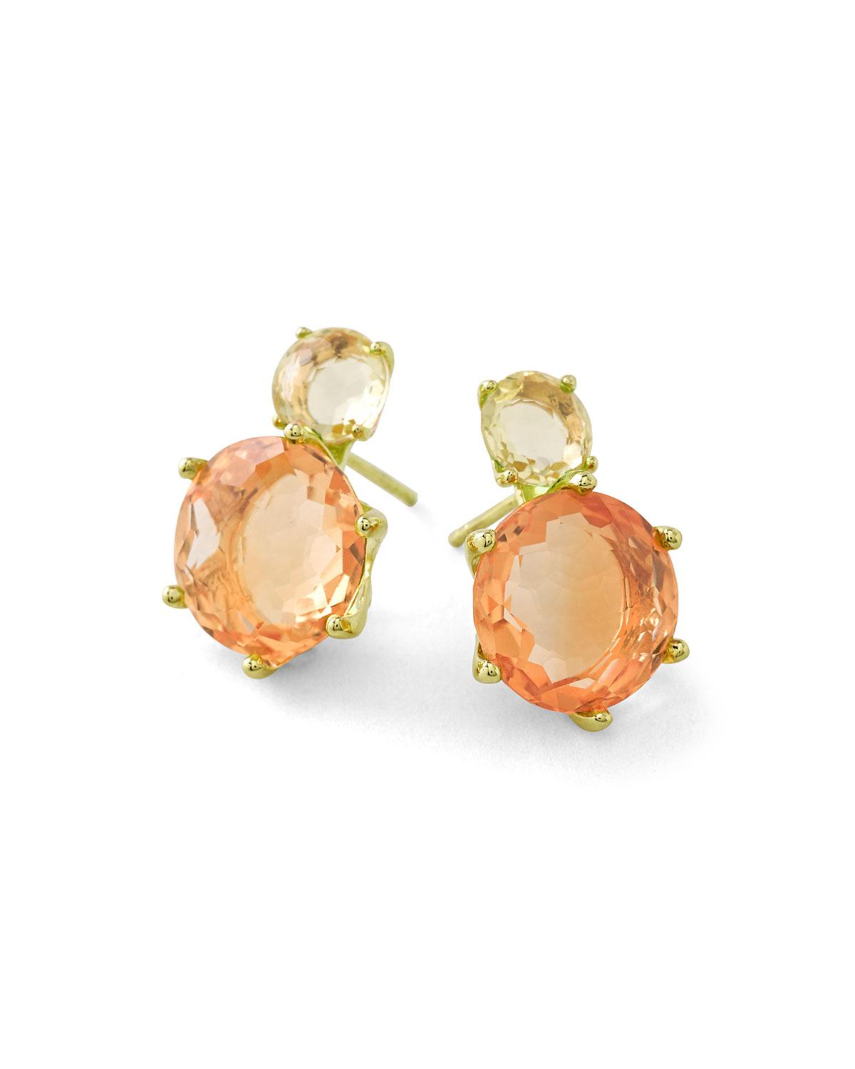 Rock Candy 18-karat Gold, Citrine And Quartz Earrings - one size Ippolita