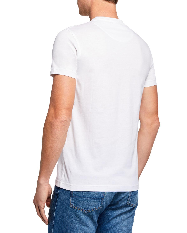 7e6f7daf Lyst - Roberto Cavalli Men's Snake Graphic T-shirt in White for Men