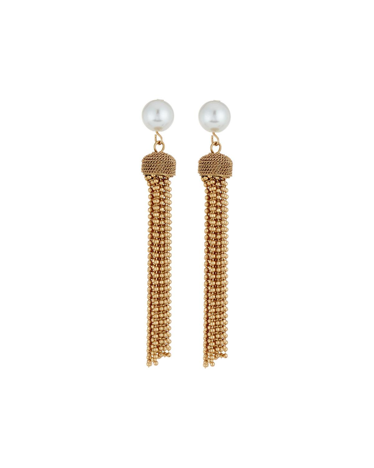 Lydell Nyc East-West Chain Tassel Earrings dXbwA