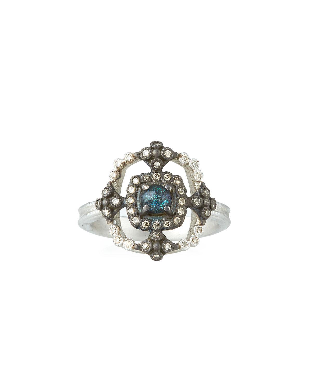 Armenta New World Crivelli Square Ring w/ Opal/Quartz PsrZkpZls
